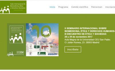 Crónica del X Seminario de Biomedicina, ética y RRHH /III Encuentro de ética y sociedad